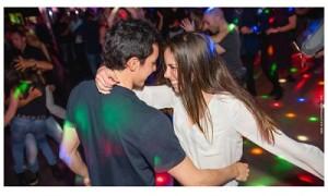Social dancing smiling
